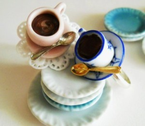 Polymer Clay Coffee Cup Rings