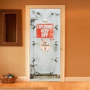 Prison Cell Door Decal Danger Door Decal ... & A Door to the Other Sideu2026 Illusion Door Decals   Weu0027re All Mad Inhere