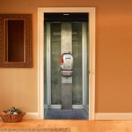 Phone Booth Door Decal