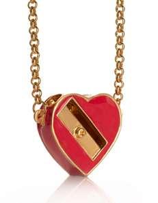 Heart Shaped Pencil Sharpener Necklace