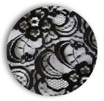 Black Baroque Dinner Plate
