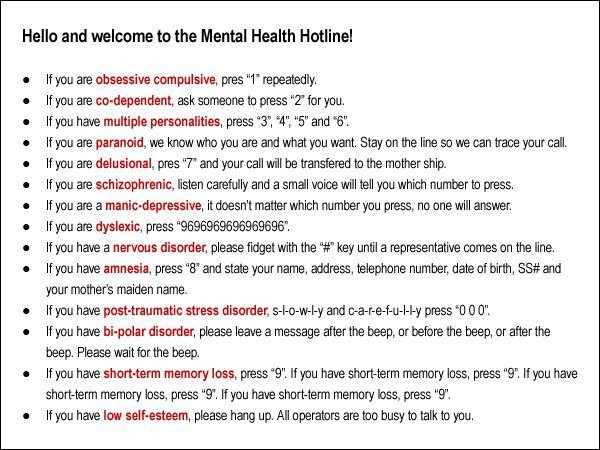 The Mental Health Hotline