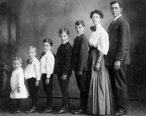 Awkward Vintage Family Portrait