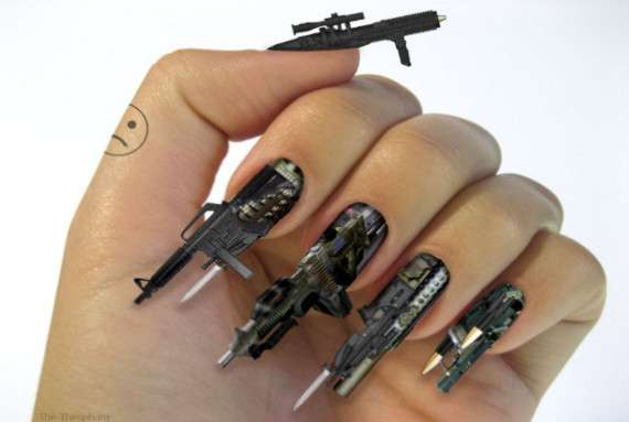 By example, these lovely examples of nail art. My personal favorites are  the Swiss Army ... - Nailed It: Epic Nail Art We're All Mad Inhere