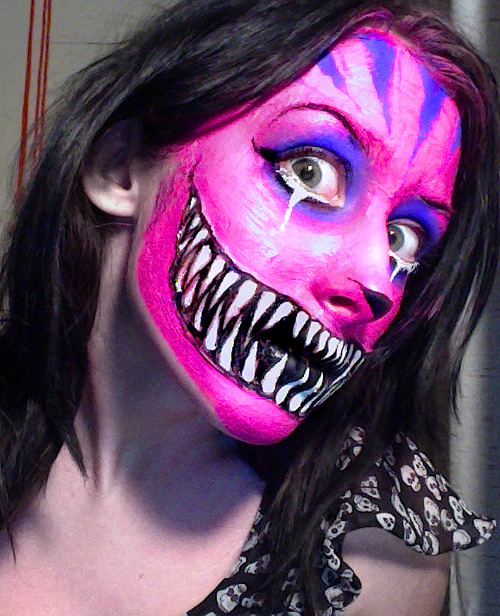 Cheshire Cat Grin Face Paint
