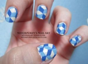 blue pattern w logo