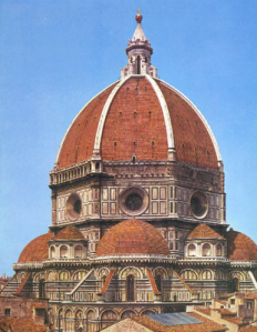 Florence cathedral dome from east