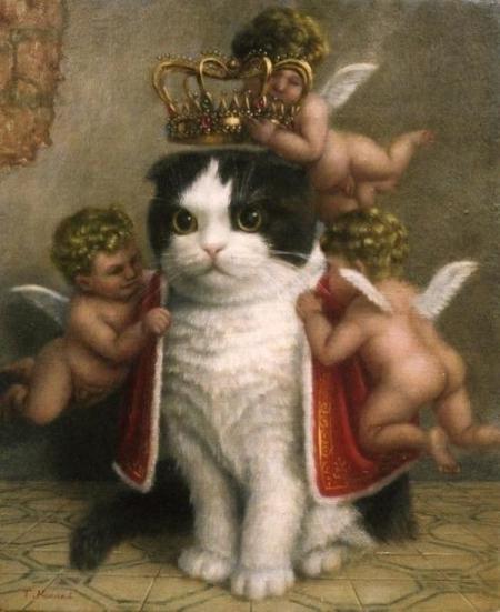 baroque-royal-cat-painting