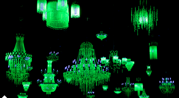 Nuclear Crystal Palace Uranium Glass Chandeliers We Re